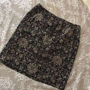 Talbots Tapestry brocade pencil skirt
